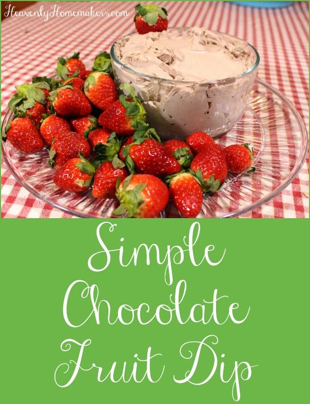 Simple Chocolate Fruit Dip