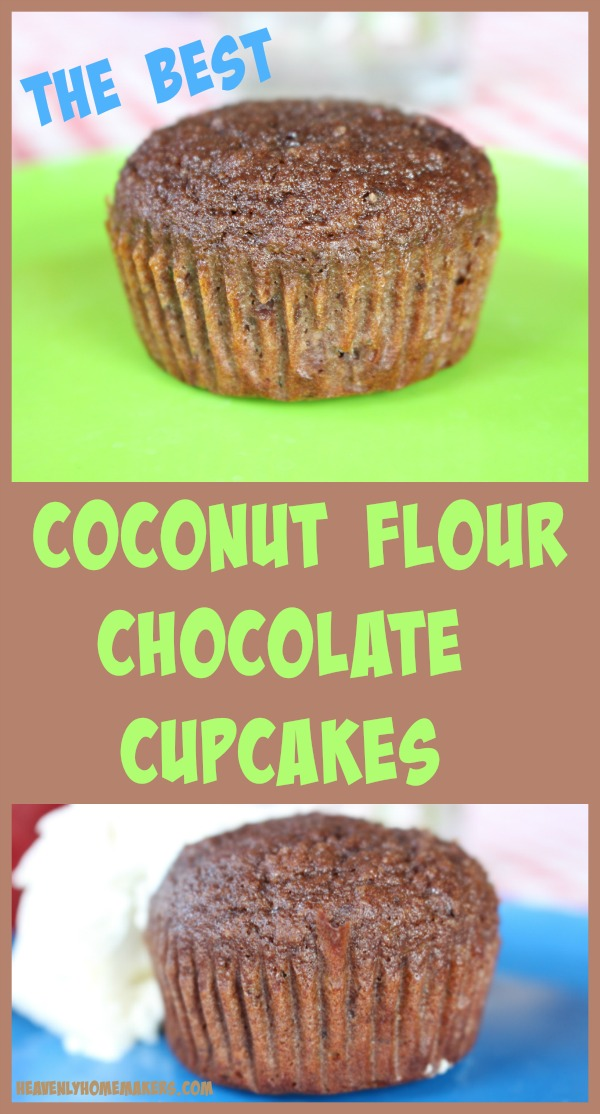 The Best Coconut Flour Chocolate Cupcakes