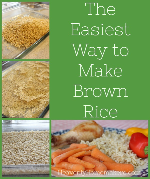 The Easiest Way to Make Brown Rice