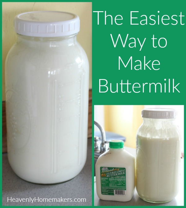 The Easiest Way to Make Buttermilk
