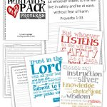 Family Scriptures Printables Pack - Proverbs